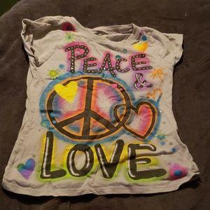 Girls Peace & Love Tee
